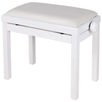 Maene Piano bench Satin White Vinyl