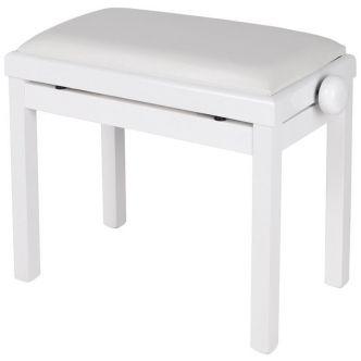 Maene Piano bench Polished White Vinyl
