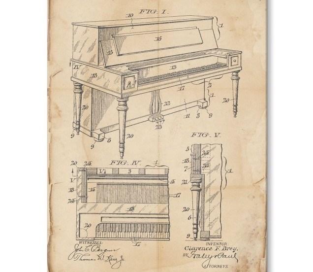 Piano constructie