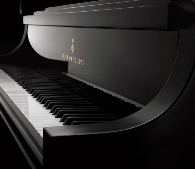 Klavier van een Steinway vleugel